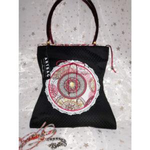 Fekete mandalás táska