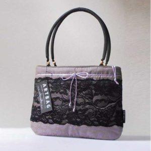 Lila-fekete alkalmi táska