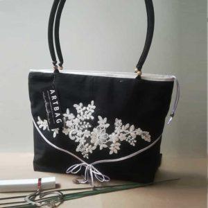 Fekete alkalmi táska–nagyobb méret