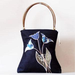 Kék tulipános táska
