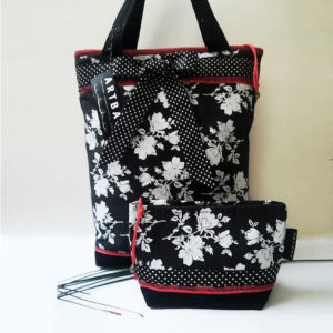 Rózsamintás táska szett / Denim bag ,with rose print